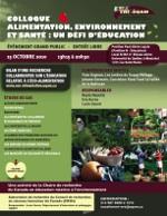 Colloque Alimentation, Environnement et Santé: Un défi d'éducation