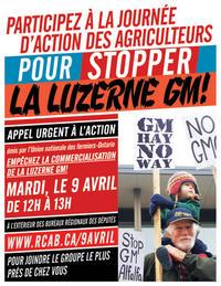 Journée d'action pour stopper la luzerne OGM!
