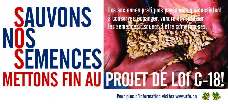 L'Union Nationale des Fermiers (NFU) lance une campagne contre C-18