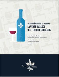 Livre blanc sur la vente d'alcool des terroirs québécois