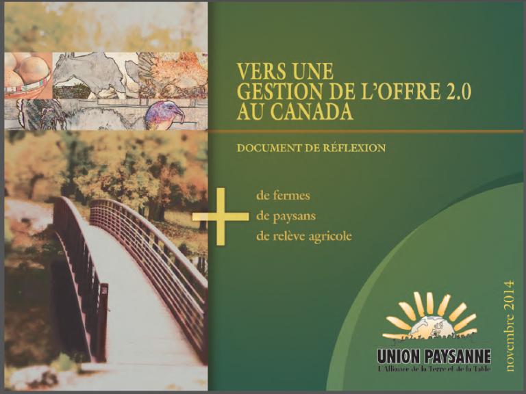 Vers une gestion de l'offre 2.0 au Canada