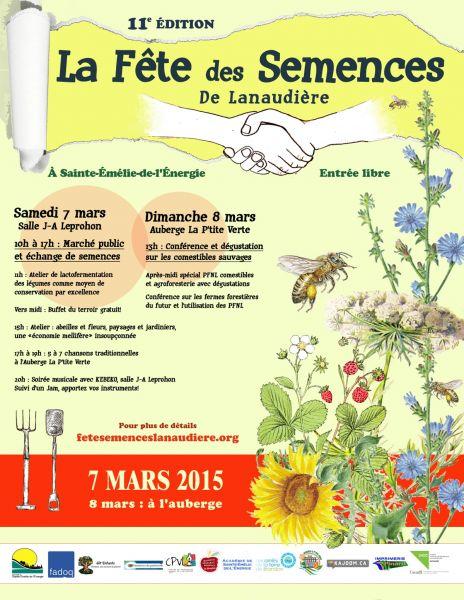 Célébrons l'arrivée du printemps avec la 11e édition de la Fête des Semences de Lanaudière !