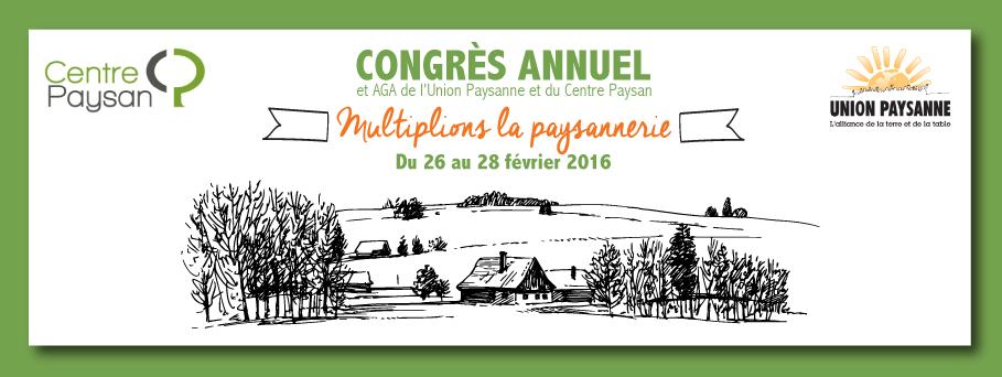 Congrès 2016 de l'Union paysanne