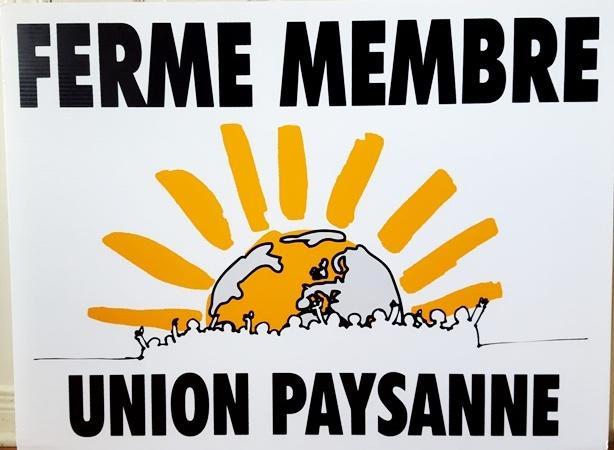 Affiches Ferme Membre Union paysanne!