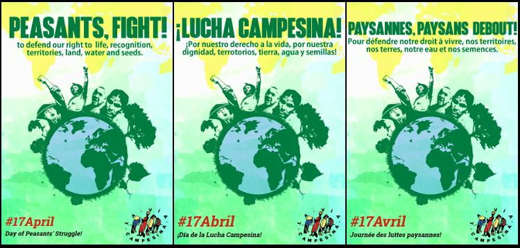 Journée internationale des luttes paysannes 2017 : Droits des paysans, droits universels!