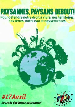 L'Union paysanne lance un appel à la solidarité et pour une reconnaissance des droits des paysan-ne-s du monde entier
