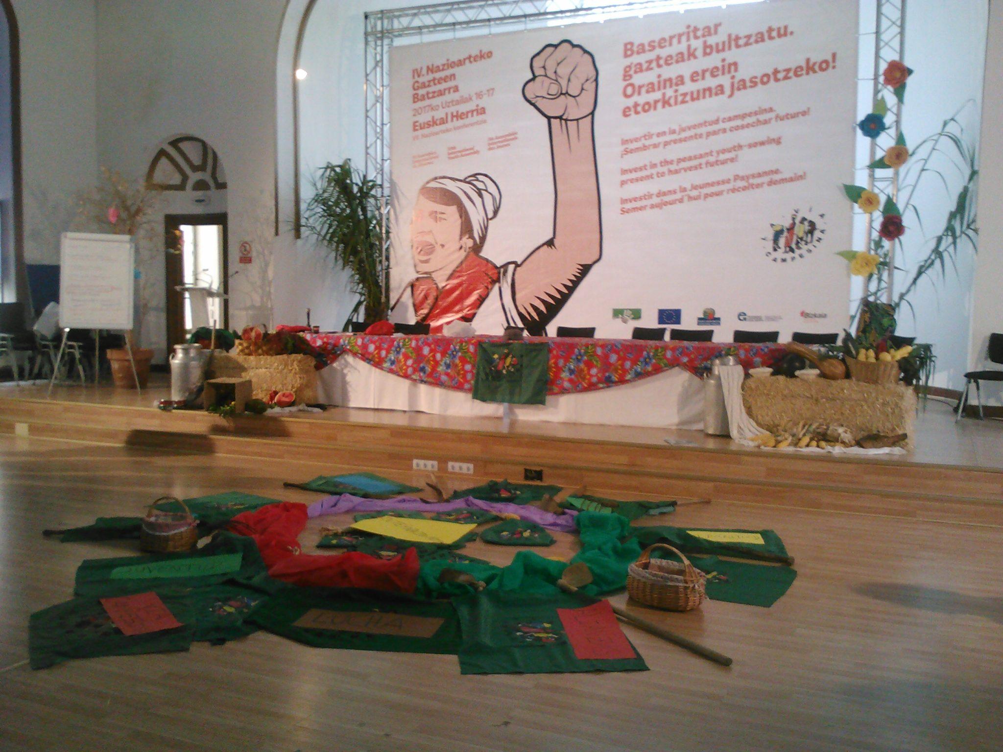 De retour, le délégué de l'Union paysanne partage son expérience au Pays basque!