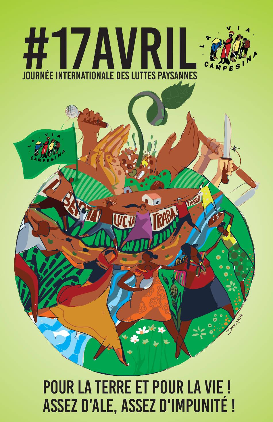 Journée Internationale des Luttes Paysannes 2018 : Appel de La Vía Campesina pour des actions unitaires décentralisées !